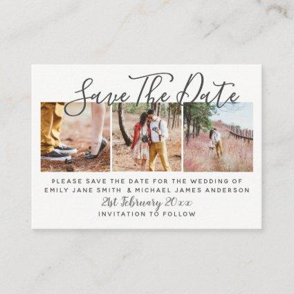 100 x PHOTO SAVE THE DATE Small Budget  Wedding Calling Card
