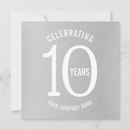 10 years corporate anniversary party invitations