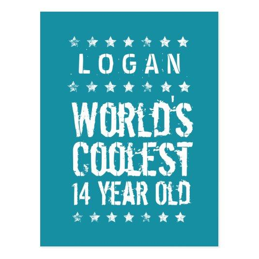 14th Birthday Worlds Coolest 14 Year Old Teal T14 Cards Save The