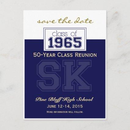 1965 Custom Class Reunion Save-the-Date Announcement