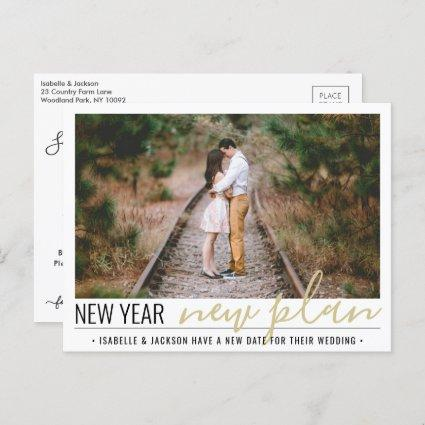 1 Photo Change of Plans Wedding New Years Holiday Announcement