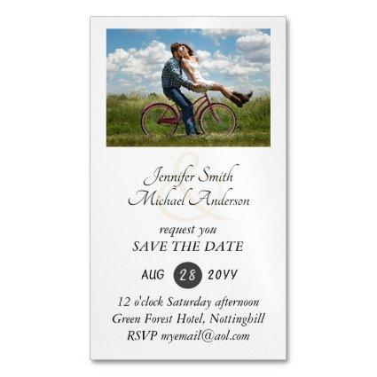 25 Magnetic PHOTO Save the Dates for less than $10 Business Card Magnet