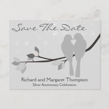 25th Anniversary Lovebirds Save The Date Announcement