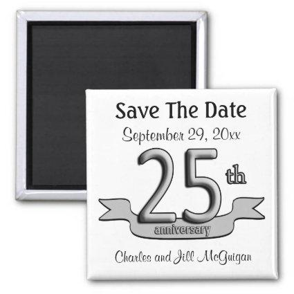 25th Anniversary Save The Date Party Favors Magnets