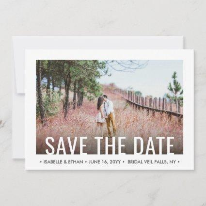 2 Photo Chic Modern Save the Date Engagement Cards
