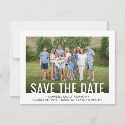 2 Photo Family Reunion Party Gathering BBQ Picnic Save The Date