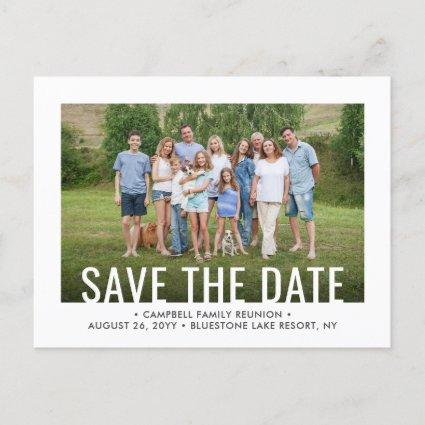 2 Photo Family Reunion Party Picnic Save the Date Announcement