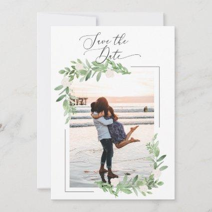 2 Sided Save the Date Photo Cards - Elegant