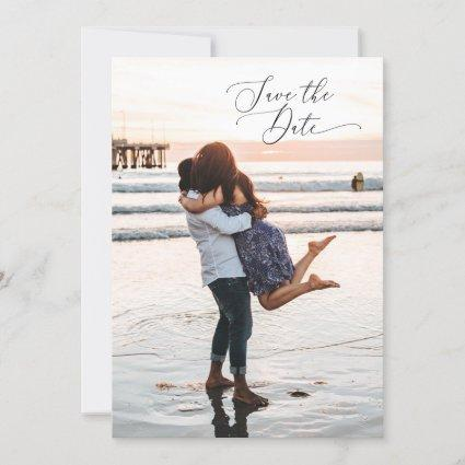 2 Sided Save the Date Photo Card - minimal