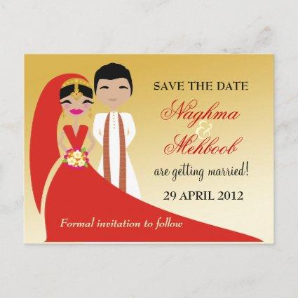 311 Indian Bride & Groom Save the Date Announcement