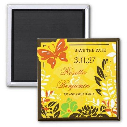 311 Jamaican Garden Save the Date Magnet
