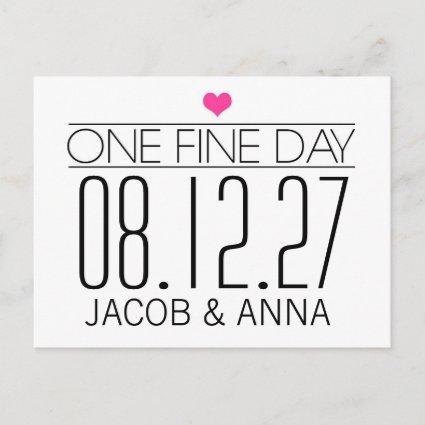 311 One Fine Day Save the Date Announcement