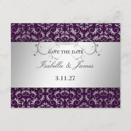 311 Silver Divine Eggplant Save the Date