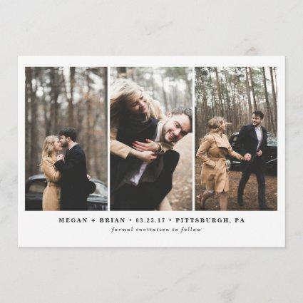 3 Photo Save the Date Card