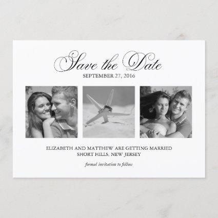 3-Photo Template Wedding Save the Date