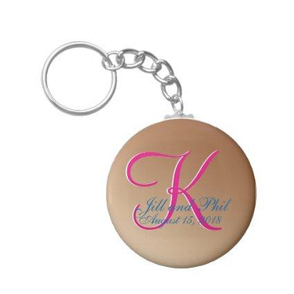 3d Monogram Copper Keychain