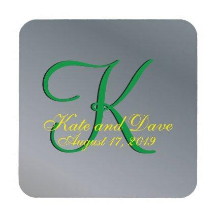 3d Monogram Pewter Coaster