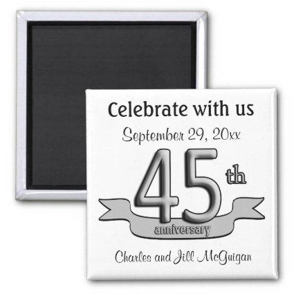 45th Anniversary Save The Date Party Favors Magnets