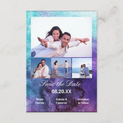 4 Photos Vertical - 3x5 Painting Save the Date