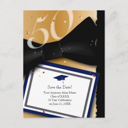 50 Year Class Reunion Save the Date BLUE Announcement