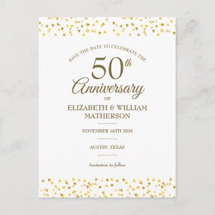 50th Anniversary Golden Hearts Save the Date Announcement