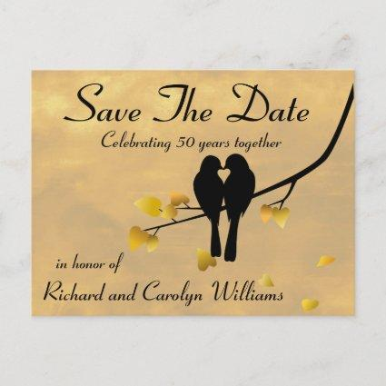 50th Anniversary Lovebirds  Announcements Cards