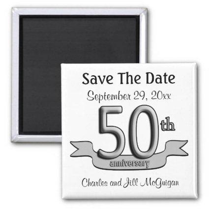 50th Anniversary Save The Date Party Favors Magnets