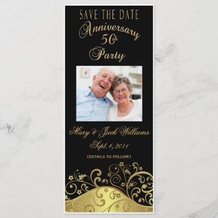 50th Anniversary Save the Date Photo Cards Invite