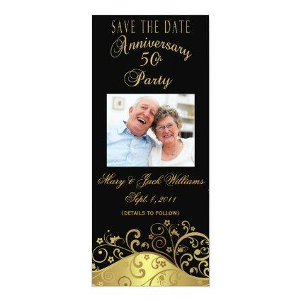 50th Anniversary  Photo Cards Invite