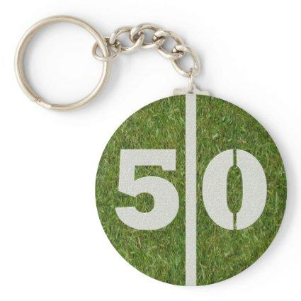 50th Birthday Party Favor Keychain