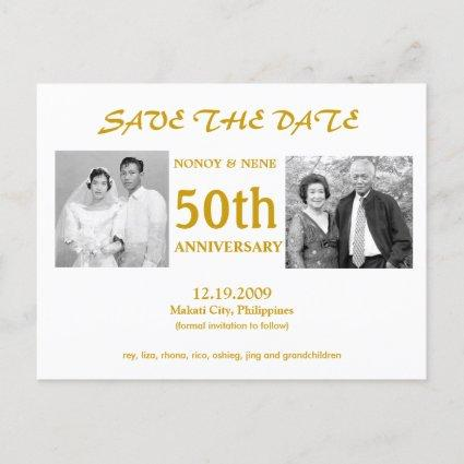 50TH SAVE THE DATE ANNOUNCEMENT