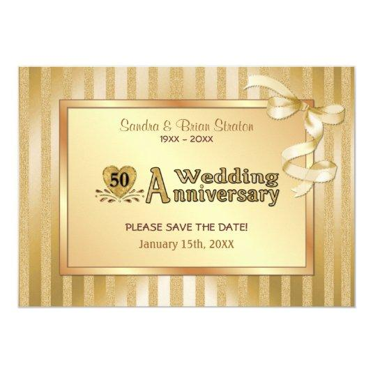 50th wedding anniversary gold 57 paper invitation cards save dollar215 50th wedding anniversary gold 5x7 paper invitation cards stopboris Image collections