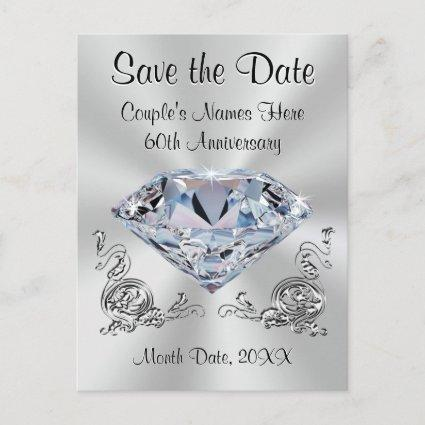 60th Anniversary Save the Date  PERSONALIZED