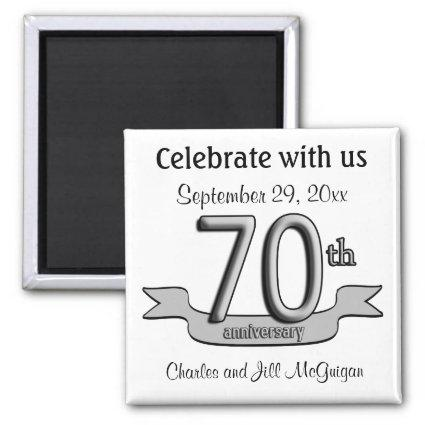 70th Anniversary Save The Date Party Favors Magnets