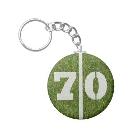 70th Birthday Party Favor Keychain