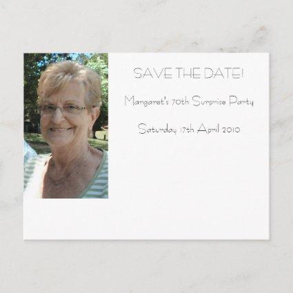 70th birthday save the date announcement
