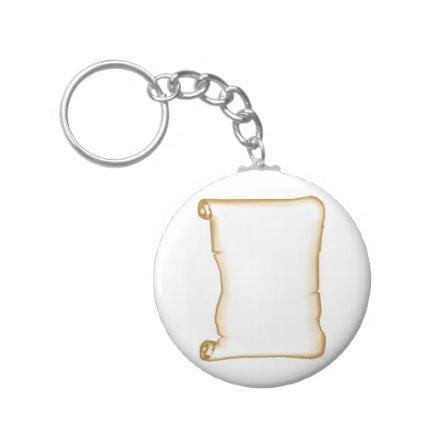 A Parchment Scroll Keychain
