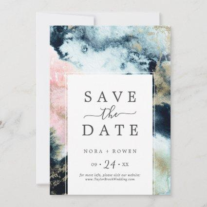 Abstract Celestial Save the Date Announcement Card