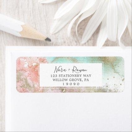 Abstract Summer Watercolor Return Address Label