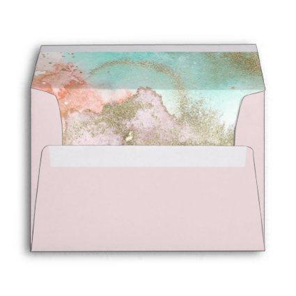 Abstract Summer Watercolor Wedding Invitation Envelope