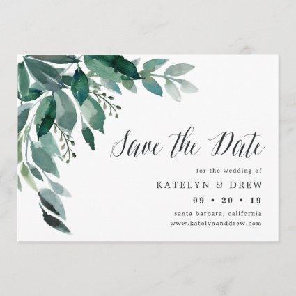 Abundant Foliage Save the Date Card