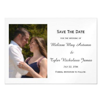 Add Your Photo Portrait Wedding Save The Date Magnetic Invitation