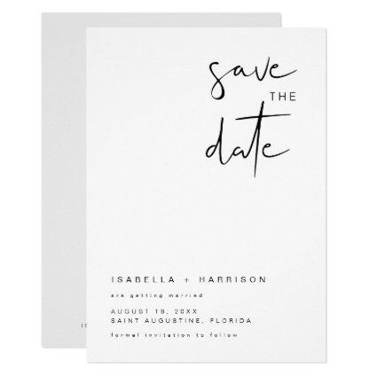 ADELLA- Modern Minimalist Simple Save the Date Invitation