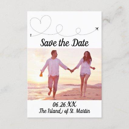 Airplane Travel - 3x5 Save the Date Invitation