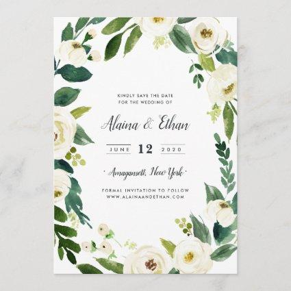 Alabaster Save the Date Cards