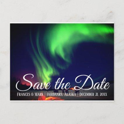 Alaskan Northern Lights Save the Date Announcement