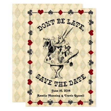 Alice in Wonderland Save the Date Card