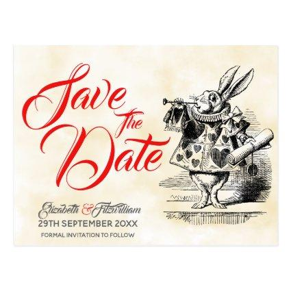 Alice in Wonderland Save the Date Cards