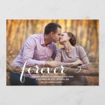 ALWAYS & FOREVER   SAVE THE DATE ANNOUNCEMENT