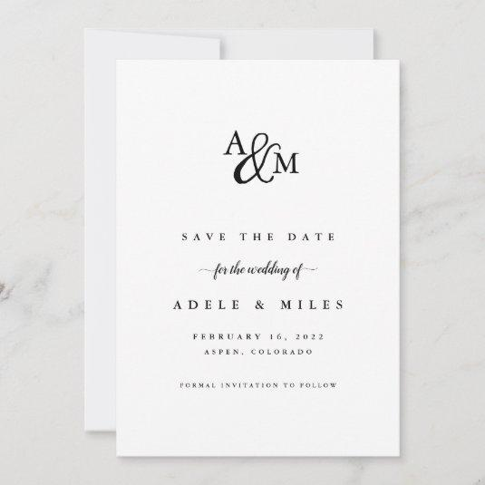 Ampersand Monogram Save the Date Card